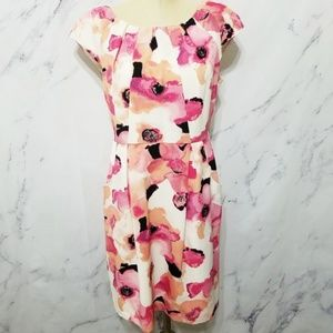 APT. 9 | White, Pink and Orange Floral Dress